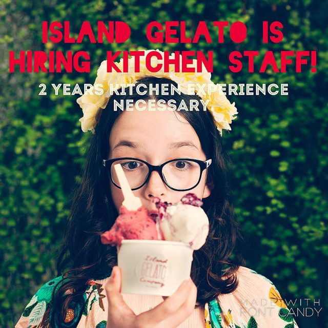 islandgelatocompany are looking for experienced CHEFS kitchen or patisserie tohellip