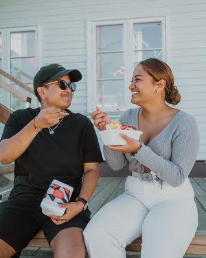 Enjoy gelato with friends